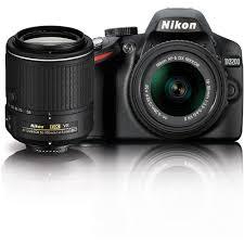nikon d3200 dslr camera with 18 55mm and 55 200mm vr 13493 b u0026h