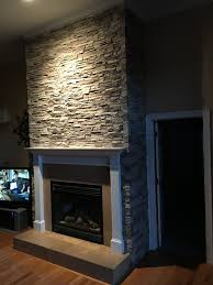 fireplace facing adds atmosphere creative faux panels