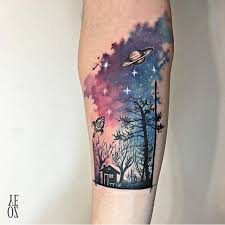 best 25 watercolor galaxy tattoo ideas on pinterest watercolour