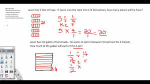 math problem fractions dividing fractions 5th grade common