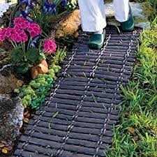Rubber Mats For Backyard by Amazon Com Set Of 2 Durable Rubber Outdoor Pathway Garden Trail