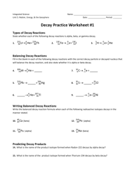 decay practice worksheet 1 fill online printable fillable