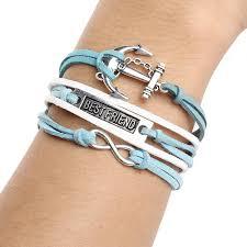 cross bracelet jewelry images New love infinity cross bracelet charm wing angel cross eye jpg