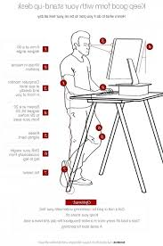 Stand Up Desk Height Desk Best 25 Great Ideas About Standing Desks On Pinterest With