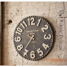 reclaimed wood wall large reclaimed wood wall clock large wall clock farmhouse decor