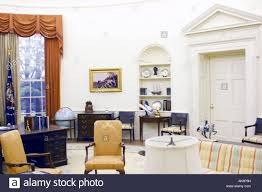 the oval office at the white house in washington dc stock photo