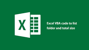 Excel Vba On Error Resume Next Excel Vba Code To List Folder And Total Size