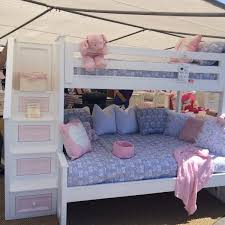 pink bunk beds with stairs ana white sweet pea garden bunk bed