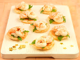party food prawn cocktail canapes in the playroom