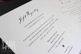 wedding gift card registry lava stationery wedding invitation gift registry wedding