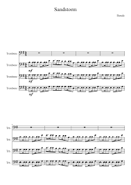 Darude Sandstorm Meme - darude sandstorm on trombones sheet music for trombone musescore