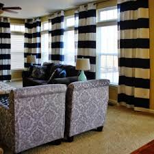Target Living Room Curtains Home Decor Chic Horizontal Striped Curtains For Window Treatment