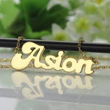 my name jewelry banana style custom name necklaces personalized 18k gold