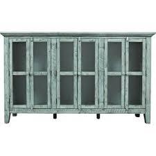 largo antique double door cabinet blue sideboards buffets you ll love wayfair