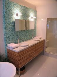 Midcentury Modern Bathroom by Bathroom Design Decor Calm Mid Century Bathroom With Teal Mosaic