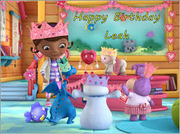 doc mcstuffin cake toppers a4 personalised doc mcstuffins edible icing or wafer birthday cake