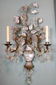 Antique Rock Crystal Chandelier Sconce Crystal Wall Sconces For Candles Chandelier Wall Sconce