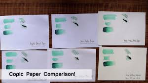 copic marker paper comparison youtube