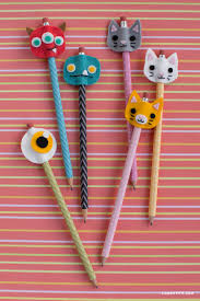 monster and kitty felt pencil toppers pencil toppers monsters