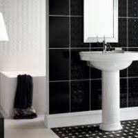 black bathroom tile ideas bathroom black and white tile ideas halflifetr info
