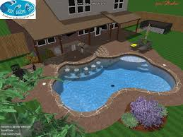 swimming pool with swim up bar tanning ledge flagstone u0026 wet