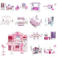 Dolls House Bathroom Furniture Plastic Furniture Play Set For Dolls House Kitchen Bathroom