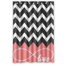 Pink And White Chevron Curtains Pretty Pink Chevron Shower Curtain Designs