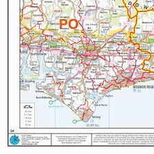 England Maps by Postcode Sector Map S4 South East England Wall Map Xyz Maps