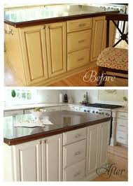 Painted Kitchen Cabinets Before After Types Of Paint Best For Painting Kitchen Cabinets Kitchens