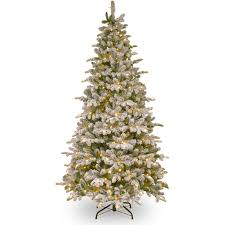 national tree pre lit 7 1 2 dunhill fir white hinged artificial