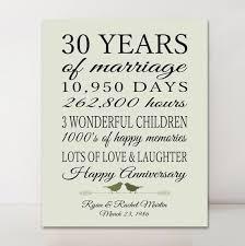 30 wedding anniversary gift wedding 30th anniversary best 25 30th wedding anniversary gift
