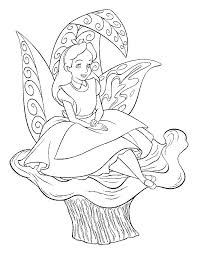 kids fun 16 coloring pages alice wonderland