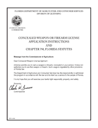 fillable concealed weapons permit florida fill online printable