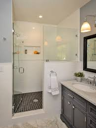 Half Shower Doors How Does The Shower Door Evenly Meet The Glass And Tile Half Wall