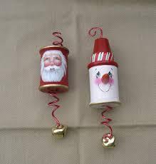 wooden thread spool ornaments by www brushedbyanangel etsy