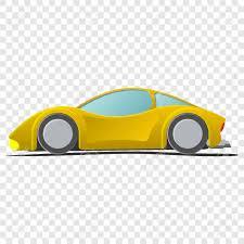 cartoon sports car cartoon yellow sportscar illustration isolated on transparent