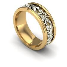 gold wedding bands for him charles babb design design feature gents mens jewelry