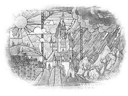 sketch visual of beauty u0026 the beast u0027s castle glass art