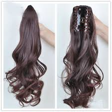 amazing hair extensions free shipping fashion women two tone synthetic hair extensions
