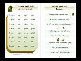esl phonics lesson consonant blends bl fl sl gl cl pl youtube