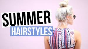 5 easy u0026 cute summer hairstyles aspyn ovard youtube