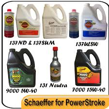 schaeffer product recommendations for 6 0 powerstroke diesel