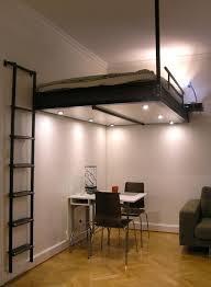 bureau pour mezzanine lit mezzanine adulte pour l aménagement du petit appartement