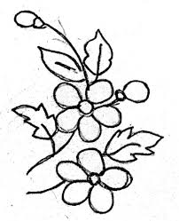 Flowers Designs For Drawing Fabric Painted Flowers Drawing Photos Flower Designs For