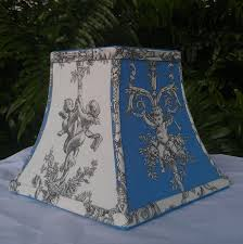 Blue Chandelier Shades Blue White Toile Lamp Shades Lamp World