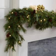 Pre Decorated Christmas Garland Christmas Garland Indoors U0026 Outdoors Christmas Decor
