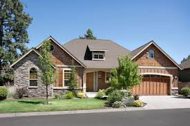 Double Car Garage by Exterior One Story House Front View One Story House Front View