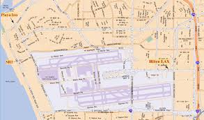 Los Angeles Airport Terminal Map by Debris Flow 2007 2008 Lax