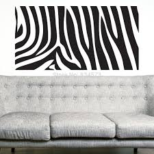 zebra print wall murals home design zebra animal print silhouette wall art stickers decal home diy decoration wall mural removable bedroom decor