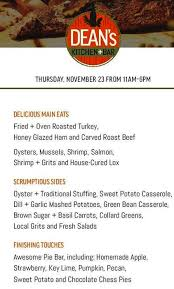 thanksgiving dinners and restaurants in raleigh durham cary and